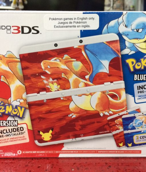 3DS NEW Consola Pokemon Red Blue Bundle