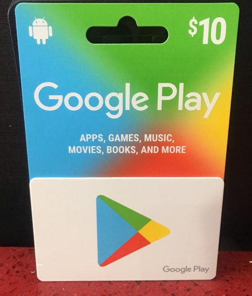 PC item Google Play 10 dolar card