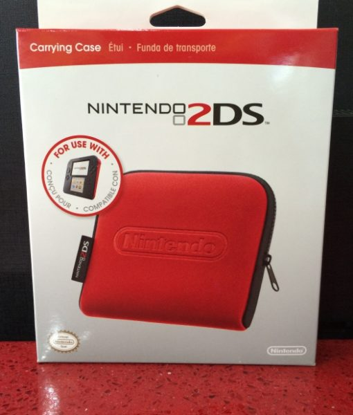 2DS Carrying Case Red Rojo Nintendo