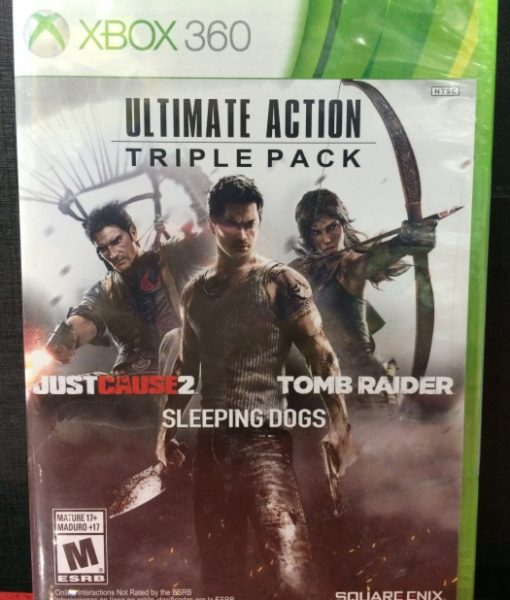 360 Action Pack Justcause sleeping tombraider game