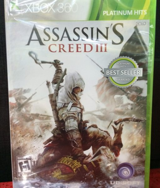 360 Assassins Creed III game