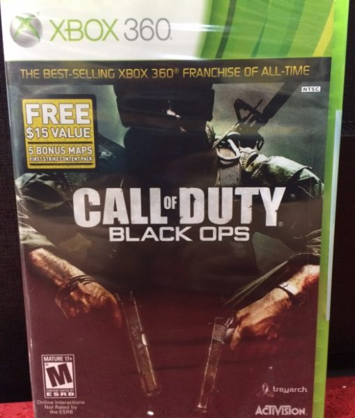 360 Call of Duty Black Ops game