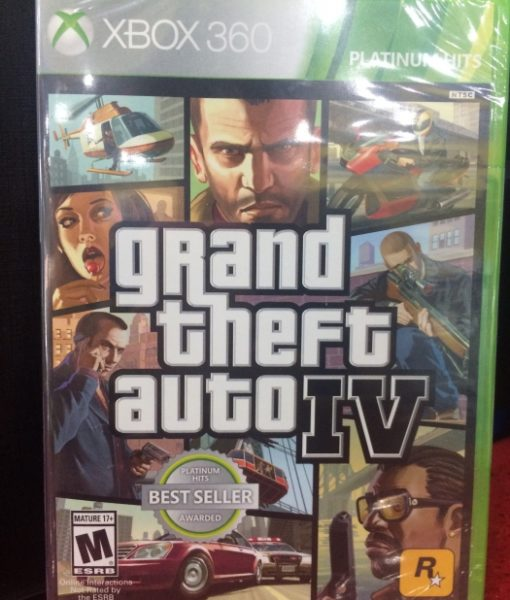 360 Grand Theft Auto IV game