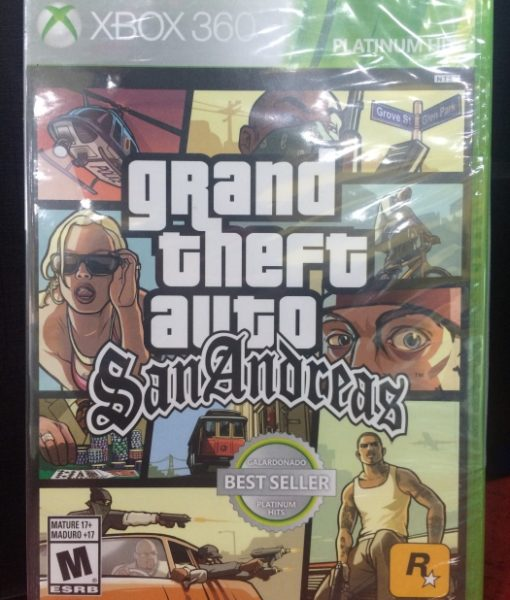 360 Grand Theft Auto San Andreas game