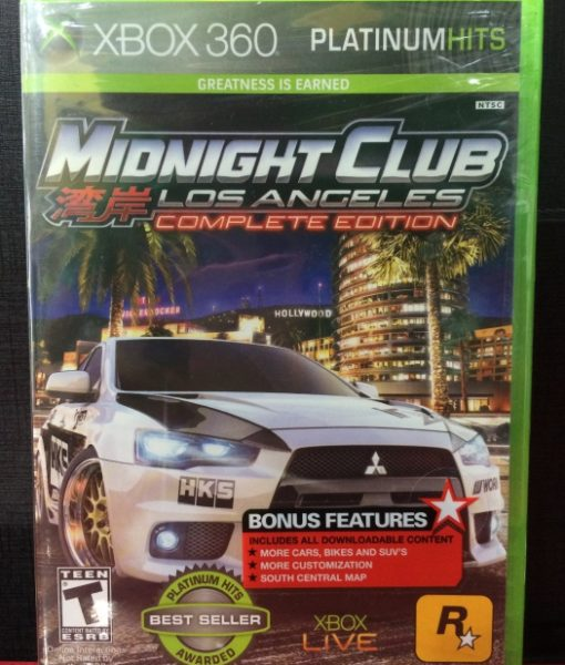 360 Midnight Club Los Angeles game