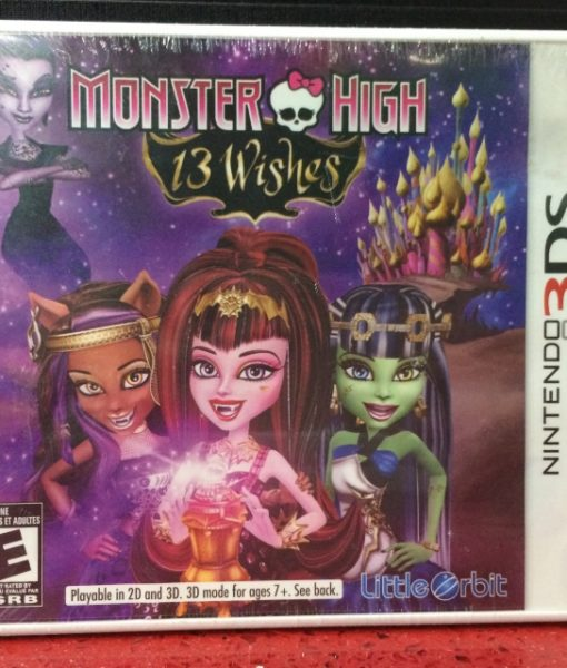 3DS Monster High 13 Wished game
