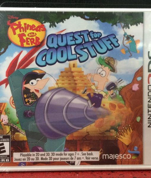 3DS Phineas and Ferb Quest for Cool Stuff game