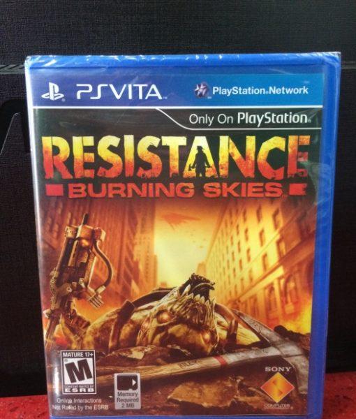 PS Vita Resistance Burning Skies game