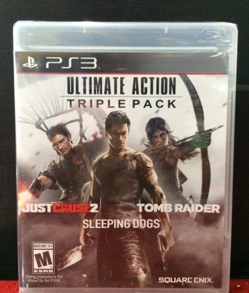PS3 Action Pack Justcause sleeping tombraider game