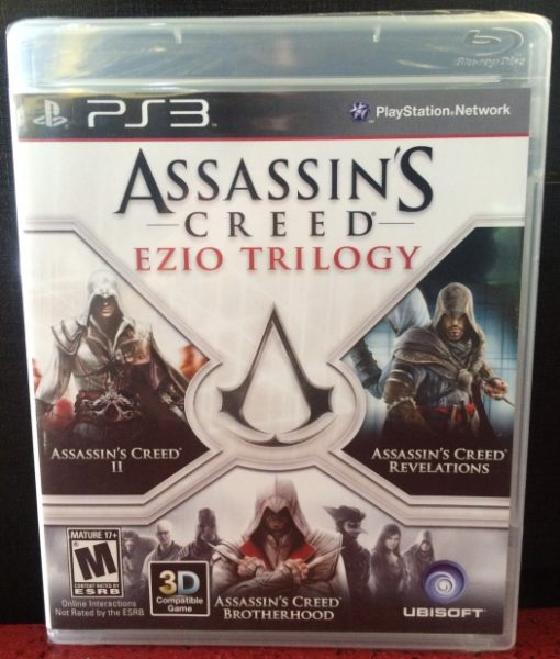 PS3 Assassins Creed Ezio Trilogy game