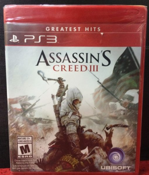 PS3 Assassins Creed III game