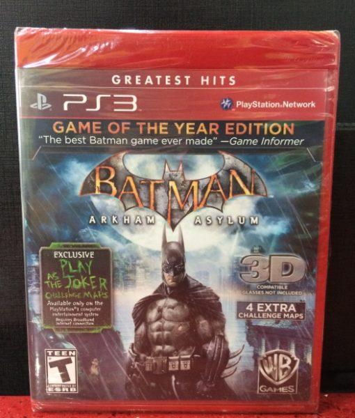 PS3 Batman Arkham Asylum game of the year