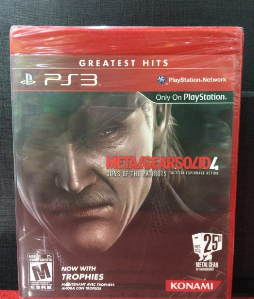 PS3 Metal Gear Solid 4 game