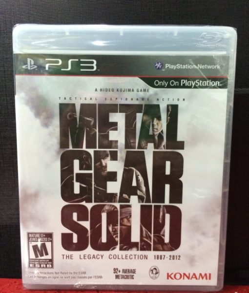 PS3 Metal Gear Solid Legacy Collection game