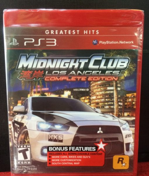 PS3 Midnight Club Los Angeles game