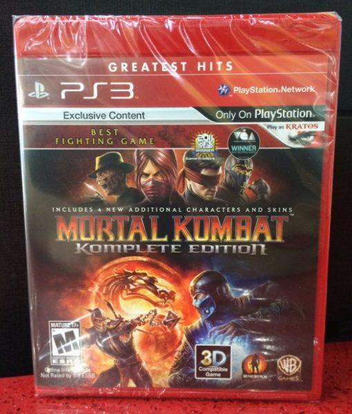 PS3 Mortal Kombat Komplete game