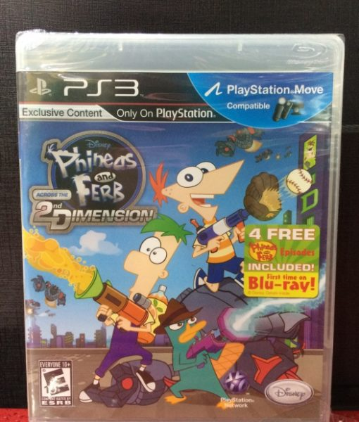 PS3 Phineas Ferb 2 Dimension game