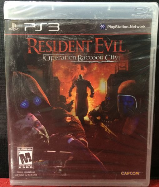 PS3 Resident Evil Racoon City game