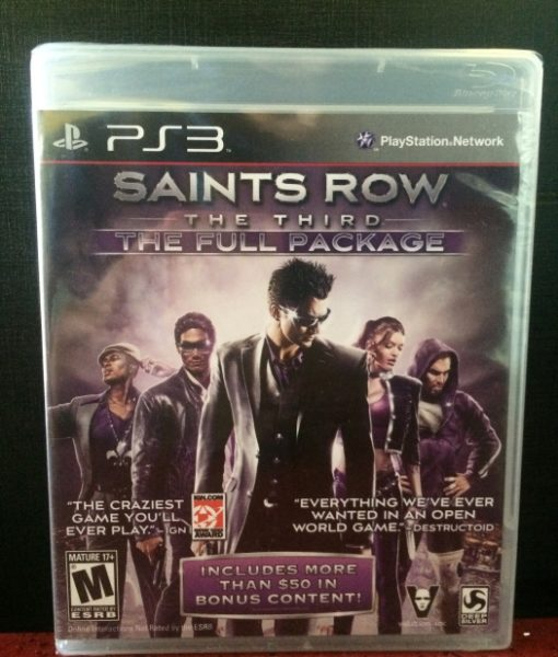 PS3 Saints Row The Third game