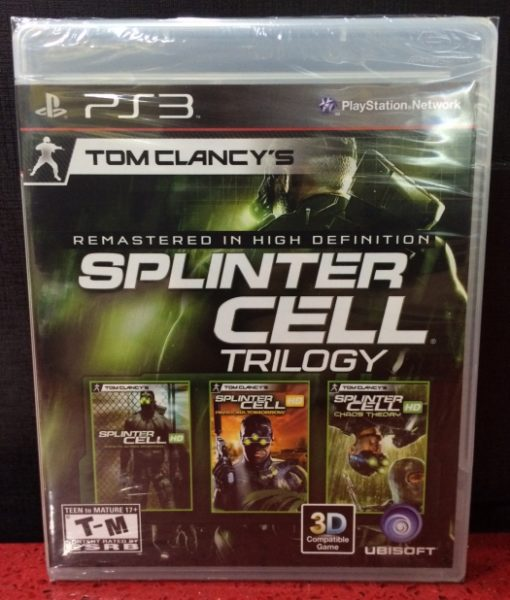 PS3 Splinter Cell Trilogy game