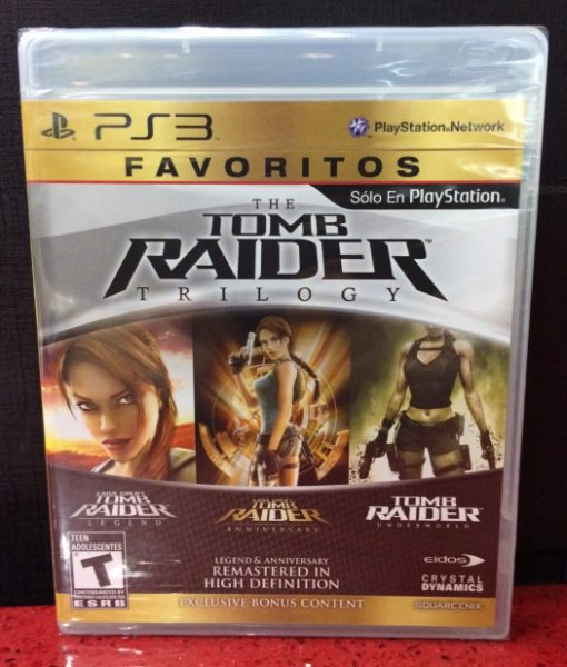 PS3 Tomb Raider Trilogy game