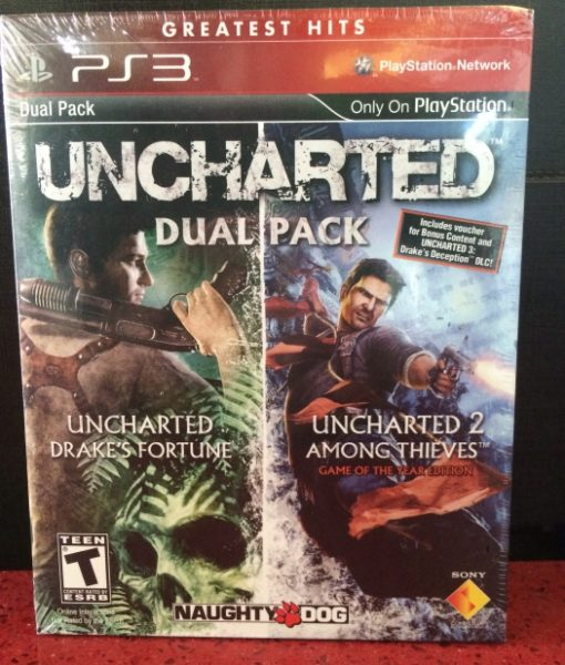 PS3 Uncharted Dual Pack game