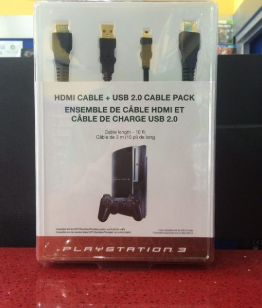 PS3 HDMI Cable + USB Cable Sony