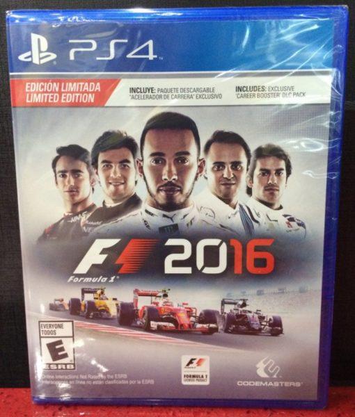 PS4 Formula 1 2016 game
