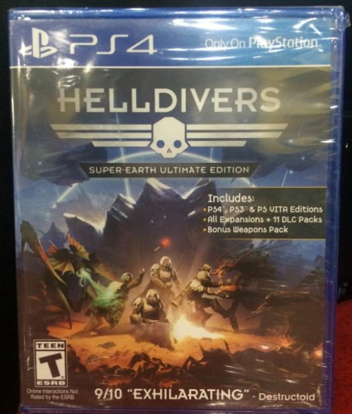 PS4 HellDivers game