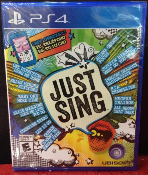 PS4 Just Sing game