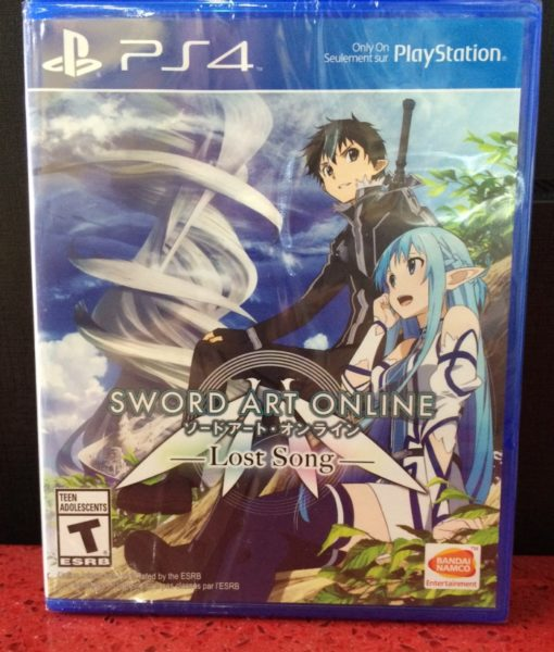 PS4 Sword Art Online Lost Song game