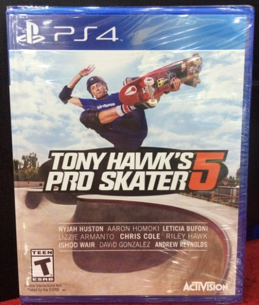 PS4 Tony Hawks Pro Skater 5 game