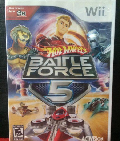 Wii Hot Wheels Battle Force 5 game