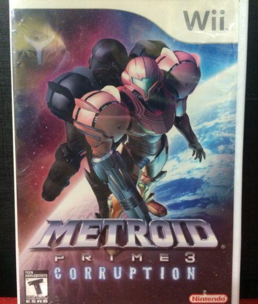 Wii Metroid Prime 3 Corruption game