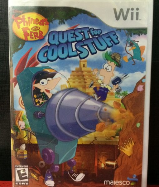 Wii Phineas and Ferb Quest for Cool Stuff game