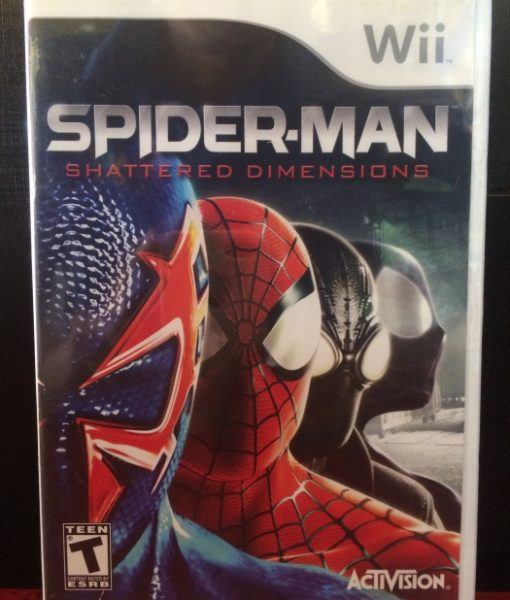Wii Spiderman Shattered Dimensions game