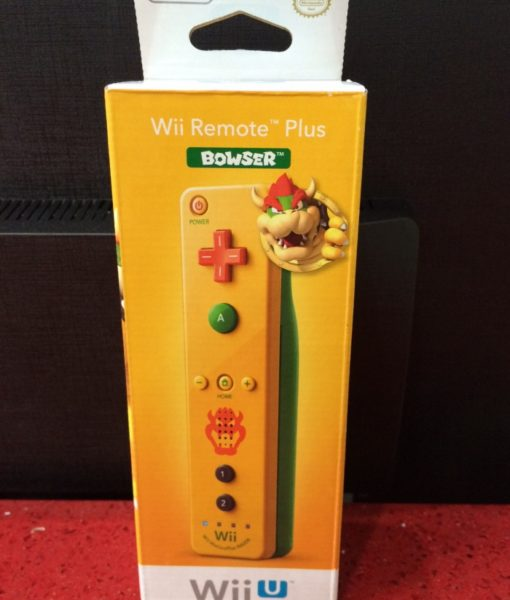 Wii U Wii Remote Plus BOWSER Amarillo Ni