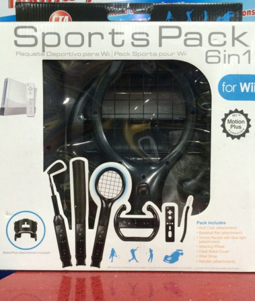 Wii Sports Pack 6in1 Negro CTA