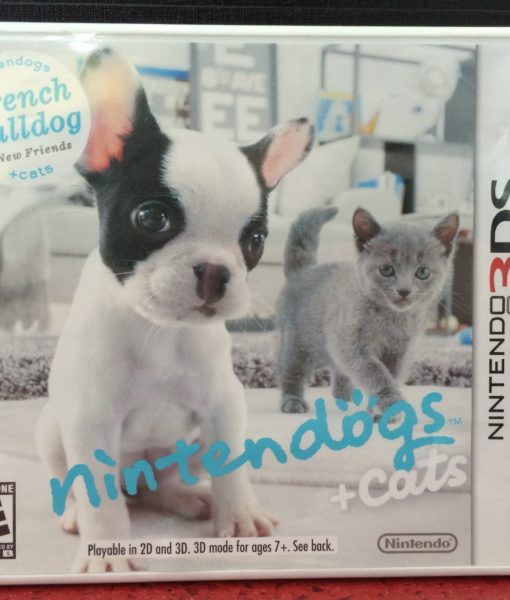 3DS Nintendogs Cats French Bulldog game