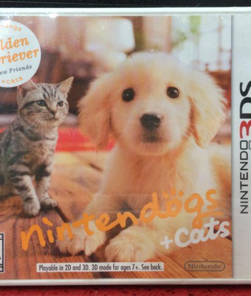 3DS Nintendogs Cats Golden Retriever game