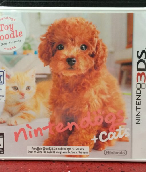 3DS Nintendogs Cats Poodle game