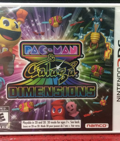 3DS PacMan Galaga Dimensions game