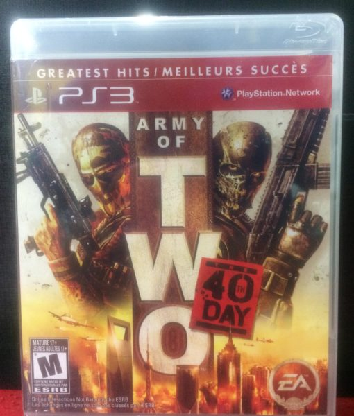 PS3 Army of Two 40th Day game