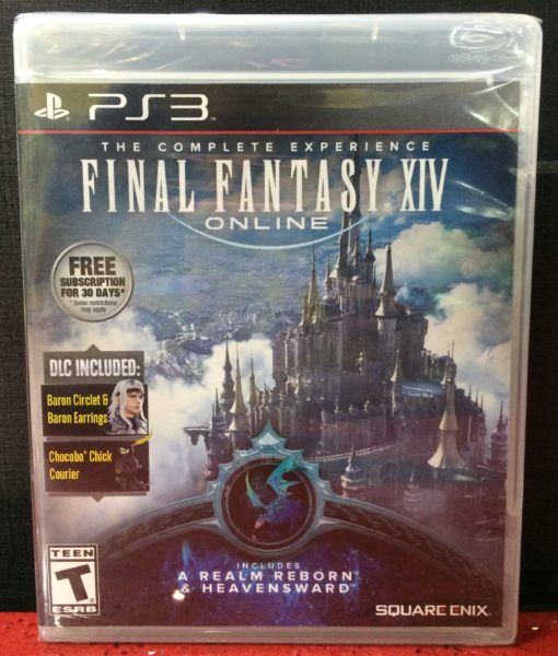 PS3 Final Fantasy XIV Online Complete game