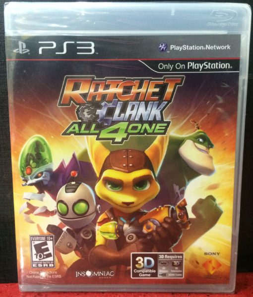 PS3 Ratchet Clank All 4 One game