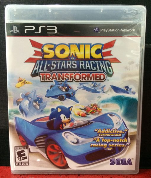 PS3 Sonic Star Racing Transformed game