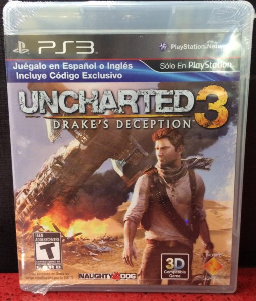 PS3 Uncharted 3 Drakes Deception game