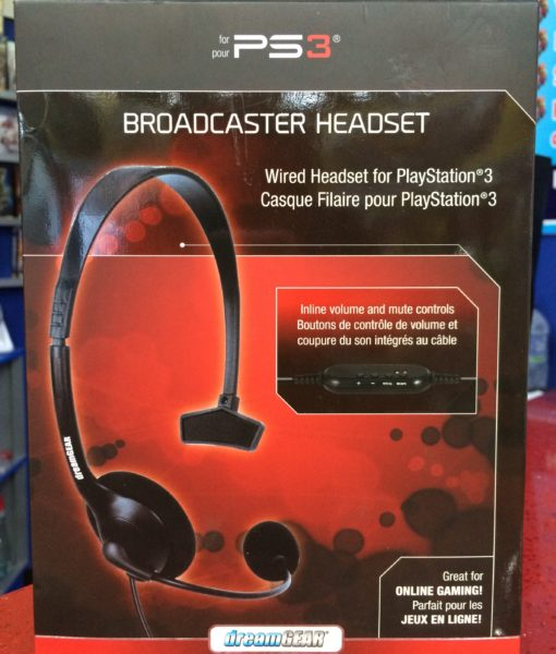 PS3 item USB Broadcaster Headset Dreamgear