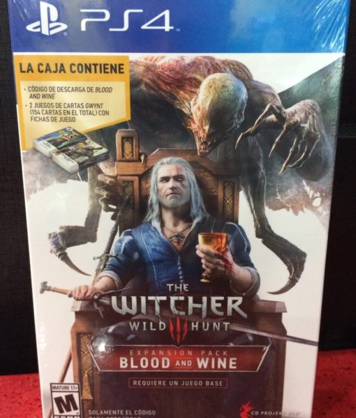 PS4 The Witcher III Blood and Wine Expansion game