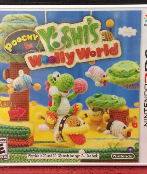 3DS Poochy and Yoshis Woolly World game